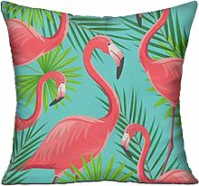 GRUNVGT Cushion Cover Pillow Cover Red Flamingos
