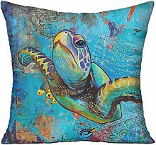 GRUNVGT Cushion Cover Pillow Cover Sea Turtles