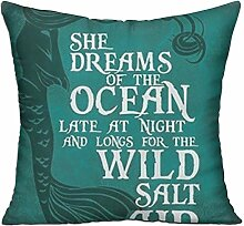 GRUNVGT Cushion Cover Pillow Cover She Dreams of