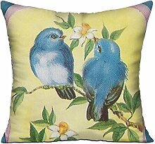 GRUNVGT Cushion Cover Pillow Cover Vintage Birds