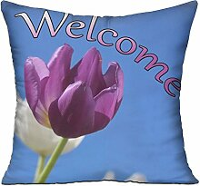 GRUNVGT Cushion Cover Pillow Cover Welcome
