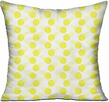 GRUNVGT Cushion Cover Pillow Cover Yellow Tennis