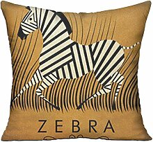 GRUNVGT Cushion Cover Pillow Cover Zebra