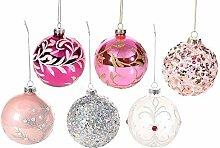 Gruppo Maruccia Weihnachtskugeln aus farbigem Glas