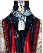 Grusel-Themen/Motiv-Fun/Spaß-Grill/Kochschürze/ Rubrik Halloween: Vampir - inkl. Spaß-Urkunde