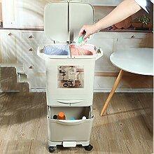 GRX-ZNLJT Küchen Mülleimer mit