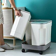 GRX-ZNLJT Mülleimer,Küche trocken und nass
