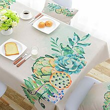 GSAYDNEE Simple Cotton Tablecloth Rechteckige