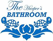 gsbathroom _ 71die Harper 's Bad Design mit turtless. Große Größe 78cm x 60cm Farbe wählen 18Farben auf Lager. Windows und Wandtattoo, Wand Windows Art, Kinder Zimmer Sticker, Aufkleber, ThatVinylPlace Mittelblau
