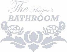gsbathroom _ 71die Harper 's Badezimmer Design mit turtless. Kleine Größe 60cm x 44cm Farbe Wählen 18Farben auf Lager. Windows und Wandtattoo, Wand Windows Art, Kinder Zimmer Sticker, Aufkleber, ThatVinylPlace Silber metallic