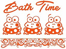 gsbathroom _ 85 Bath Time Design mit Frösche. Große Größe 82 cm x 60 cm Farbe wählen 18 Farben auf Lager. Windows und Wandtattoo, Wand Windows Art, Kinder Zimmer Sticker, Aufkleber, ThatVinylPlace Orange
