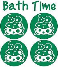 gsbathroom _ 87Bath Time Design mit Frösche. Größe 52cm x 60cm Farbe wählen 18Farben auf Lager. Windows und Wandtattoo, Wand Windows Art, Kinder Zimmer Sticker, Aufkleber, ThatVinylPlace Grün
