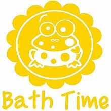 gsbathroom _ 88Bath Time Design mit Frösche. Größe 58cm x 60cm Farbe wählen 18Farben auf Lager. Windows und Wandtattoo, Wand Windows Art, Kinder Zimmer Sticker, Aufkleber, ThatVinylPlace Gelb
