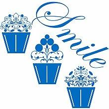 gscupcake _ 83Smile. Cupcakes Design. Groß Größe 62cm x 60cm Farbe wählen 18Farben auf Lager. Windows und Wandtattoo, Wand Windows Art, Kinder Zimmer Sticker, Aufkleber, ThatVinylPlace Mittelblau