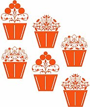 gscupcake _ 84Vintage Cupcakes Design. Kleine Größe 47cm x 56cm Farbe Wählen 18Farben auf Lager. Windows und Wandtattoo, Wand Windows Art, Kinder Zimmer Sticker, Aufkleber, ThatVinylPlace Orange