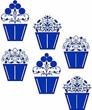 gscupcake _ 84Vintage Cupcakes Design. Kleine Größe 47cm x 56cm Farbe Wählen 18Farben auf Lager. Windows und Wandtattoo, Wand Windows Art, Kinder Zimmer Sticker, Aufkleber, ThatVinylPlace azurblau
