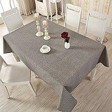 GSJJ Rechteckig Tischdecke einfach Baumwolle