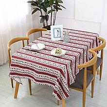 GSJJ Rechteckig Tischdecke Weihnachten Rot