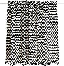 GSKB Scheibengardine Geometrie Schwarz Und Weiß