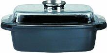 GSW 410366 Gourmet Bräter mit Aroma-Glasdeckel,