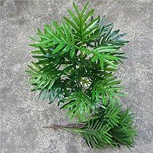 GSYLOL 3 Zweige Real Touch Eisen Farn Blatt Haufen Künstliche Farn Grün Immergrüne Pflanze Grüne WandHochzeit Dekoration