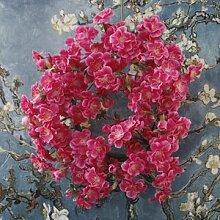 GSYLOL Neue Hochzeit Dekoration Künstliche Kirschblüte Blumenkranz Für Home New Year Party Decor, ro