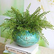 GSYLOL Simulatiom Ginkgo Biloba Künstliche Grüne Immergrüne Pflanze Grünes Blatt Bunch Home Wedding Shop Decor
