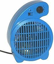 GT Elektro Heizlüfter + Kühler Heizung Heizgerät Elektroheizung Ventilator blau