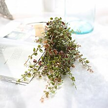 GT Künstliche Blumen einzige zweigstelle Gold und Silber verlässt, lange Weinstock, grüne Pflanze, Ideal für Hochzeit, Braut, Party, zu Hause, Büro Einrichtung fake Blumen
