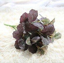 GT Künstliche Blumen einzige zweigstelle, Mulberry Blätter, Pflanze Wand, Ideal für Hochzeit, Braut, Party, zu Hause, Büro Einrichtung fake Blumen