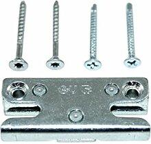 GU Pilzkopf Schließblech Schliessplatte 9-35993 Gr.46 ( 6-27674-46-0-1 ) incl. Montagematerial
