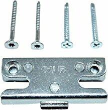 GU Pilzkopf Schließblech Schliessplatte 9-36098 Gr.04 ( 6-27831-04-0-1 ) incl. SN Montagematerial