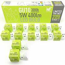 GU10 LED Glühbirnen 5w 12 Pack, Warm Weiß,