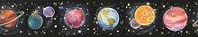 GU92122B Tapetenbordüre Planeten und Sterne, 11,4
