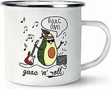 Guac n Roll Avocado Retro Emaille Becher Tasse