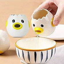 GUANGE Kreativer Eiertrenner aus Keramik, Eigelb