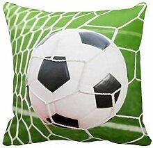Guanggs Soccer Ball Pillow Cover 18x18 Sofa