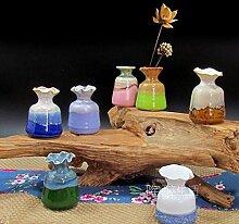 GUANGMING77 Einzelne Blüten Eingefügt_Coarse Keramik Handgefertigte Keramik Blume Blume Blume Ornament Persönlichkeit Heimtextilien Hydroponic Vase Eingefügt, Hq 22 Lila Fambe