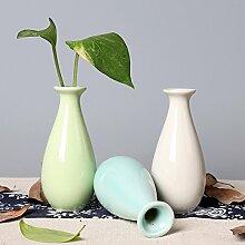 GUANGMING77 Keramik Vase Blumenstengel Heimtextilien Office Desktop Dekoration Keramik Kunsthandwerk Keramik Vase Blume Duft Flasche Wasser Blau, Hellblau