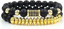 GUANHONG Perlen 8mm schwarz matt Hand tragen