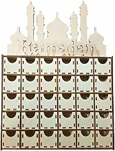 GuanjunLI 1 Stück Holz MDF Schublade Eid Ramadan