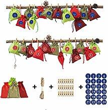 GuanjunLI 24 Stück Adventskalender