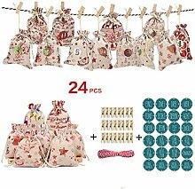GuanjunLI 24 Stück/Set Weihnachten Serie