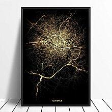 guatan Leinwand Bild,Florenz Stadt Licht Karten