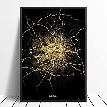 guatan Leinwand Bild,London City Licht Karten