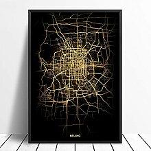 guatan Leinwand Bild,Peking Stadt Licht Karten