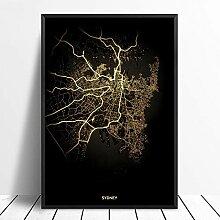 guatan Leinwand Bild,Sydney City Licht Karten
