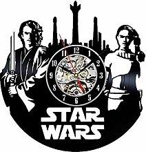 GUAZ Star Wars Kunst Wanduhr Kreative Vinyl Wall