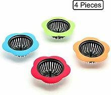 GuDoQi 4 Stück Küchenspüle Sieb Ablassstopfenfilter
