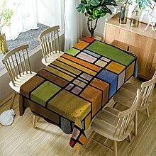GuDoQi Bunte Quadrat Tischdecke Tisch Decken Rechteck Polyester Stoff Sortierte Größe Für Küche Esszimmer Tischplatte Dekoration